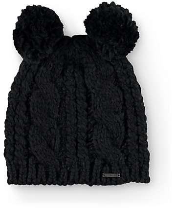 Empyre Lulu Black Double Pom Beanie