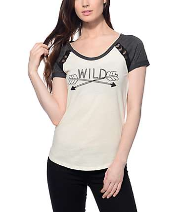 Empyre Mabel Wild White & Gray T-Shirt