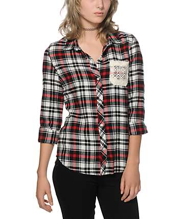 Empyre Maddie Lace Flannel Shirt