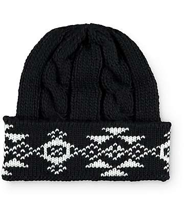 Empyre Mae Black Tribal Beanie