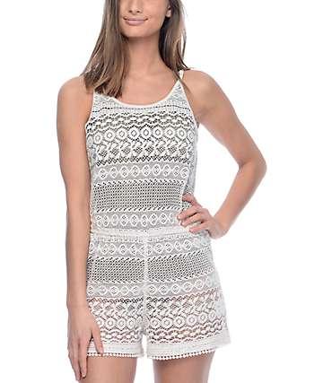 Empyre Mariella White Crochet Romper