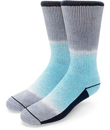 Empyre Marlon Grey & Teal Tie Dye Crew Socks
