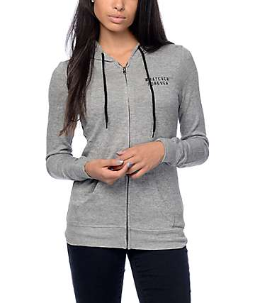 Empyre Matilda Whatever Grey Zip Up Hoodie