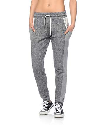Empyre Maura Crochet Pocket Speckle Jogger Pants