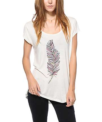 Empyre McCoy Feather Print Top