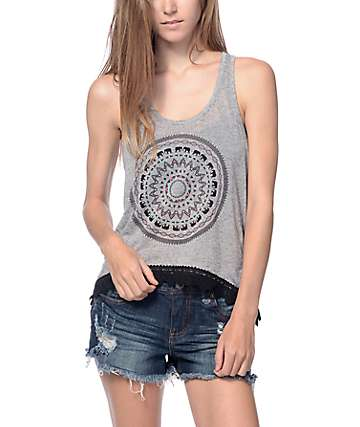 Empyre McGraw Grey Tribal Tank Top