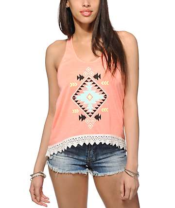 Empyre McGraw Tribal Crop Tank Top