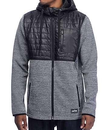 Empyre McMurdo Quilted Tech Fleece capucha con cremallera en negro