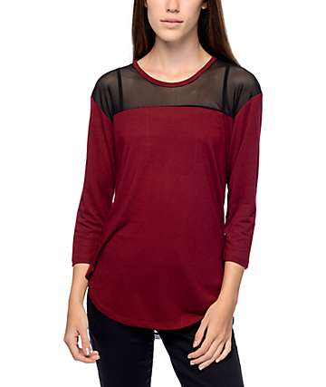 Empyre Meagan Colorblock Red Top