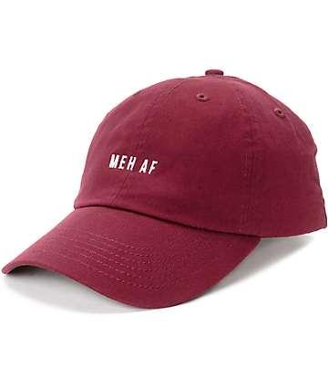 Empyre Meh AF Burgundy Baseball Hat