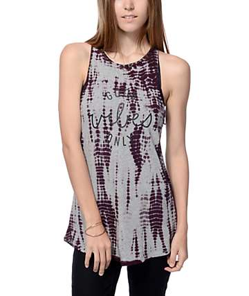 Empyre Melilee Good Vibes Only Purple Tank Top
