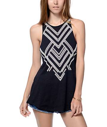 Empyre Merilee Black Tribal Tank Top