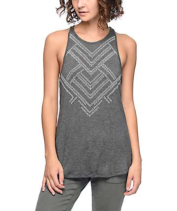 Empyre Merilee Charcoal Tribal Tank Top