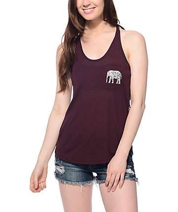 Empyre Micah Blackberry Elephant Pocket Tank Top