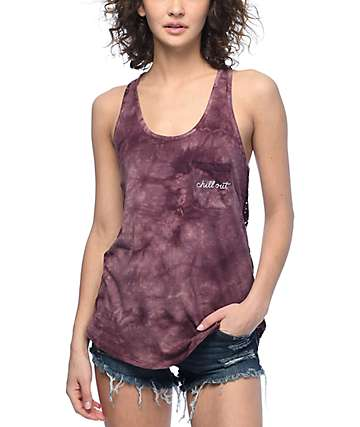 Empyre Micah Chill Out Tie Dye & Lace Tank Top