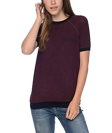 Empyre Mindy Whatever Blackberry Raglan Top