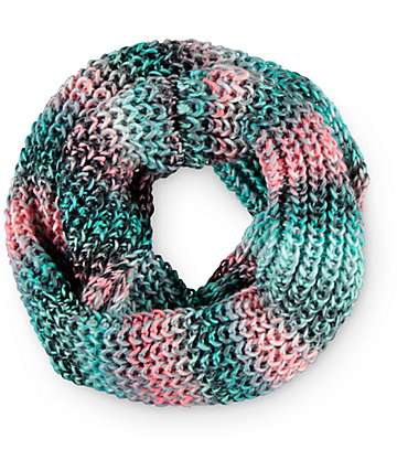 Empyre Mint & Multi Chunky Knit Infinity Scarf