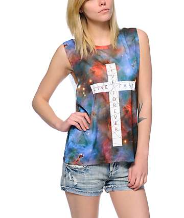 Empyre Mitzi Galaxy Cross Sublimated Muscle Tank Top