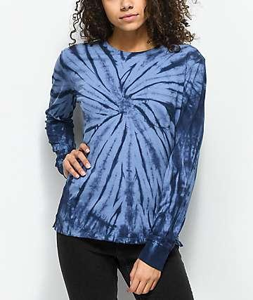Empyre Monroe Blue Tie Dye Long Sleeve T-Shirt