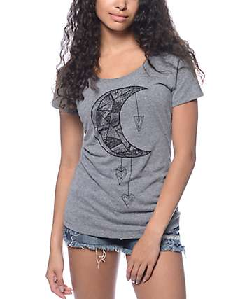 Empyre Moon Catcher Grey Scoop T-Shirt