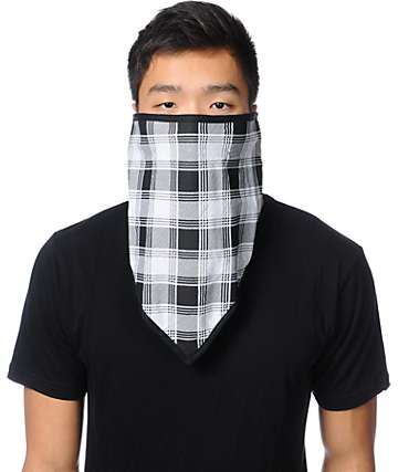 Empyre Mountaineer Black Plaid Face Mask Bandana