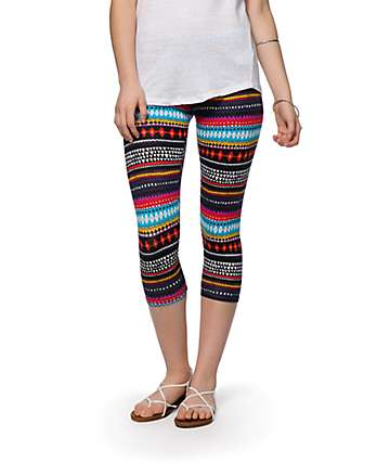 Empyre Multi Print Cropped Leggings