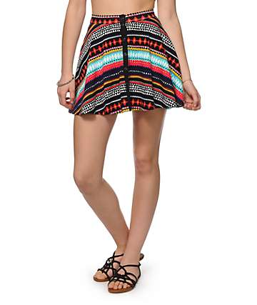 Empyre Nellie Blanket Stripe Skater Skirt