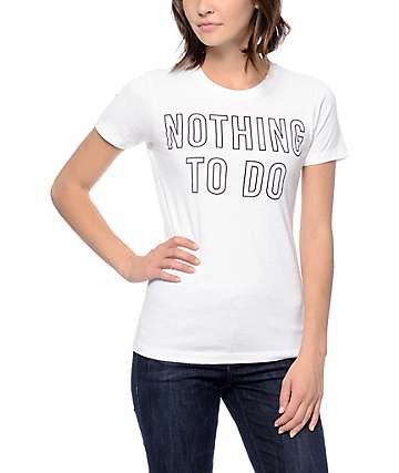 Empyre Nothing To Do Boyfriend White T-Shirt