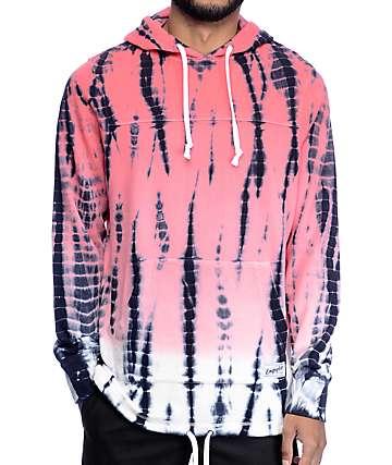 Empyre Ocean Floor Pink Tie Dye Hoodie