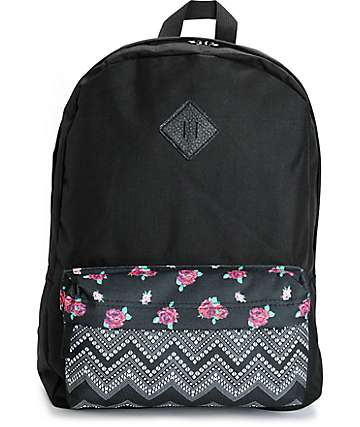 Empyre Olga Floral Chevron Pocket Backpack