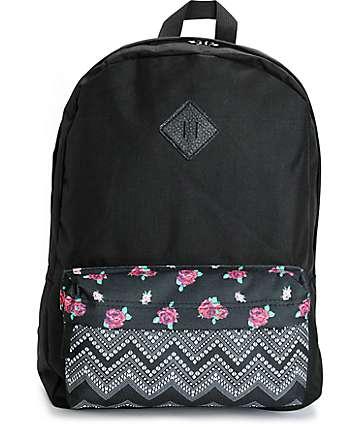 Empyre Olga Floral Chevron Pocket Backpack
