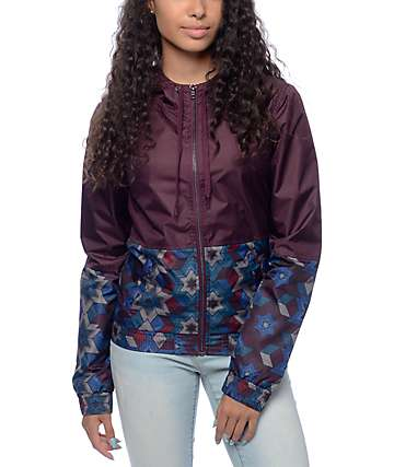 Empyre Olia Blackberry Geo Lined Windbreaker