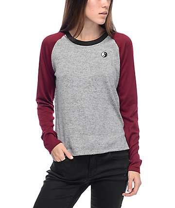 Empyre Ollie Burgundy Long Sleeve T-Shirt