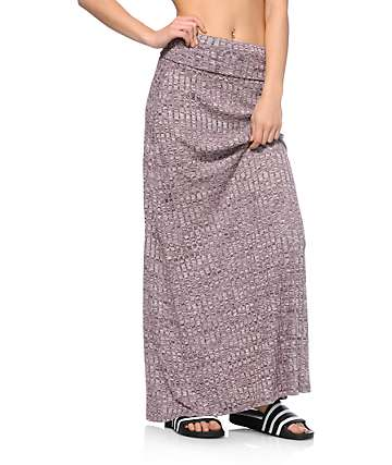 Empyre Opal Blackberry Ribbed Maxi Skirt