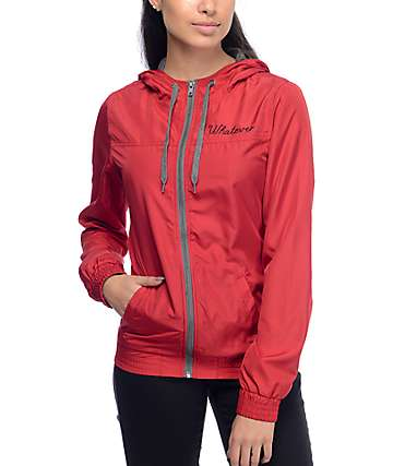 Empyre Oriana Whatever Red Lined Windbreaker Jacket
