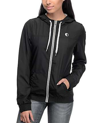 Empyre Oriana Yin Yang Black Lined Windbreaker Jacket