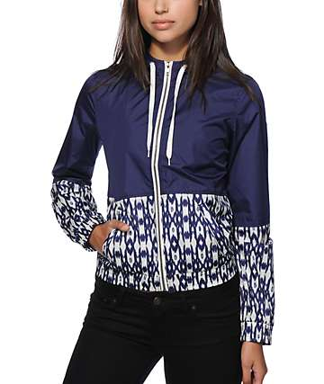 Empyre Orla Navy Ikat Windbreaker Jacket
