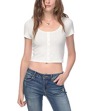Empyre Oslo White Crop Top