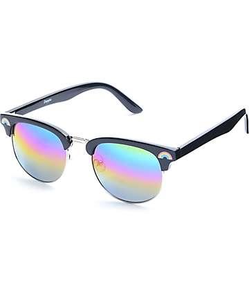 Empyre Over It Clubmaster gafas de sol en negro y arcoíris