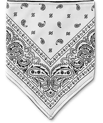 Empyre Paisley bufanda protectora en blanco