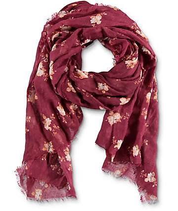 Empyre Pam Floral Burgundy Oblong Scarf