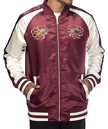 Empyre Passport Maroon & Cream Souvenir Jacket