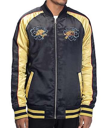 Empyre Passport chaqueta souvenir en negro y color oro