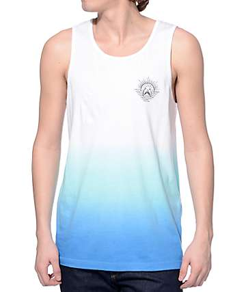 Empyre Past Lives White and Blue Dip Dye Tank Top