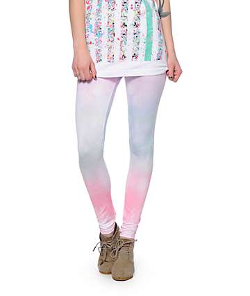 Empyre Pastel Ombre Galaxy Print Leggings
