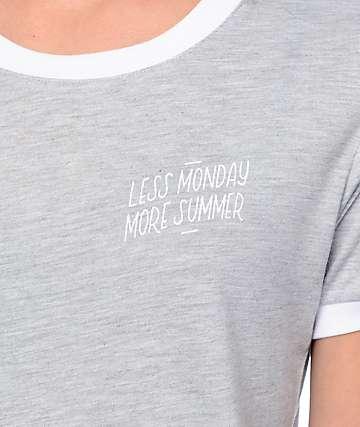Empyre Paul Less Monday camiseta ringer en gris