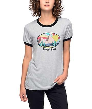 Empyre Paul Livin Easy camiseta ringer en gris
