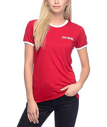 Empyre Paul Stay Weird Red Ringer T-Shirt