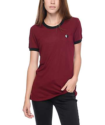 Empyre Paul Yin Yang Red Ringer T-Shirt