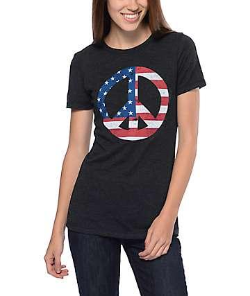 Empyre Peace America Black Crew T-Shirt